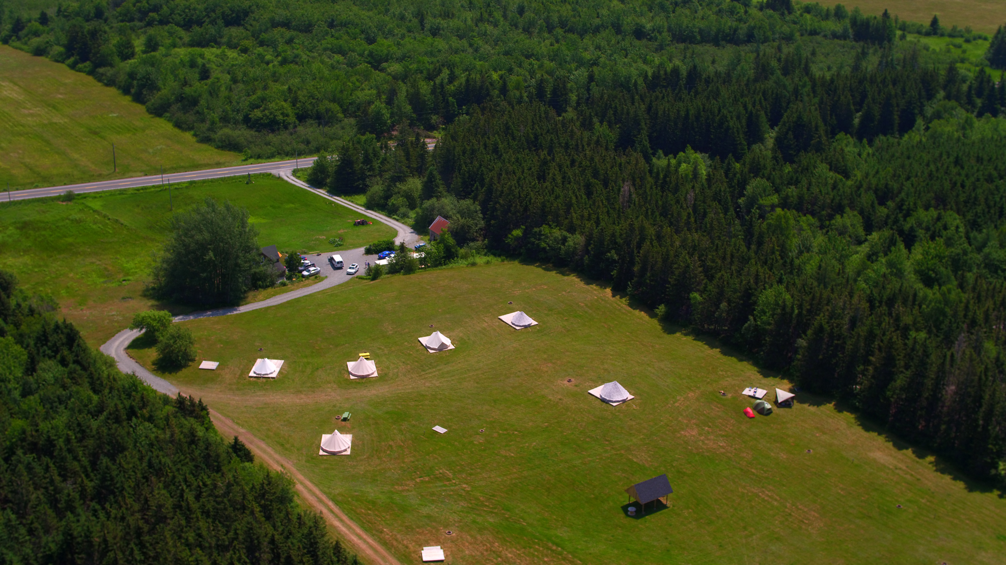 Eagle eye view of our location