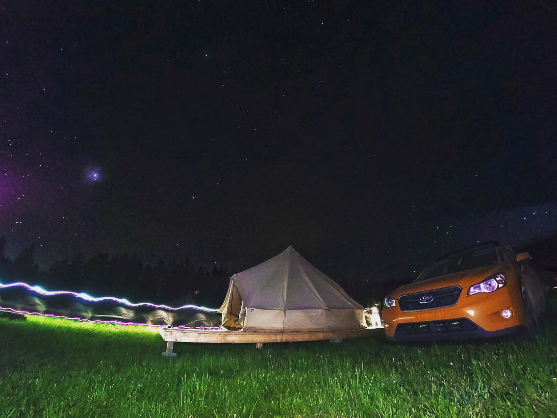 Spend the night stargazing