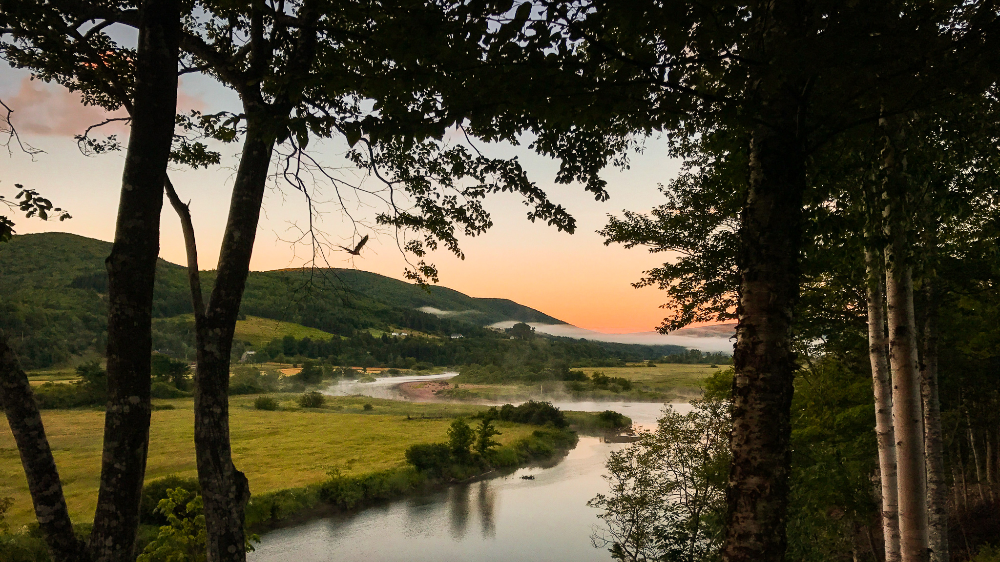 Sunrise on the Margaree River
