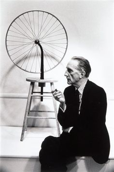 Marcel Duchamp & his Bicycle Wheel