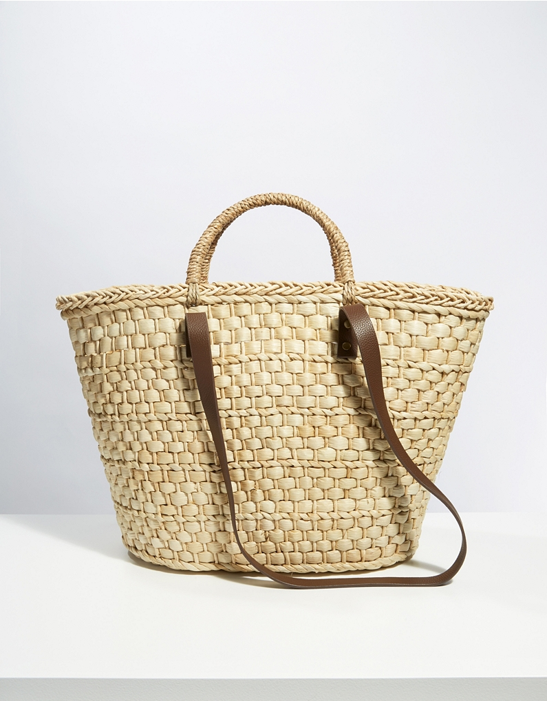 Double Handle Straw Basket Bag - £65 at The White Company