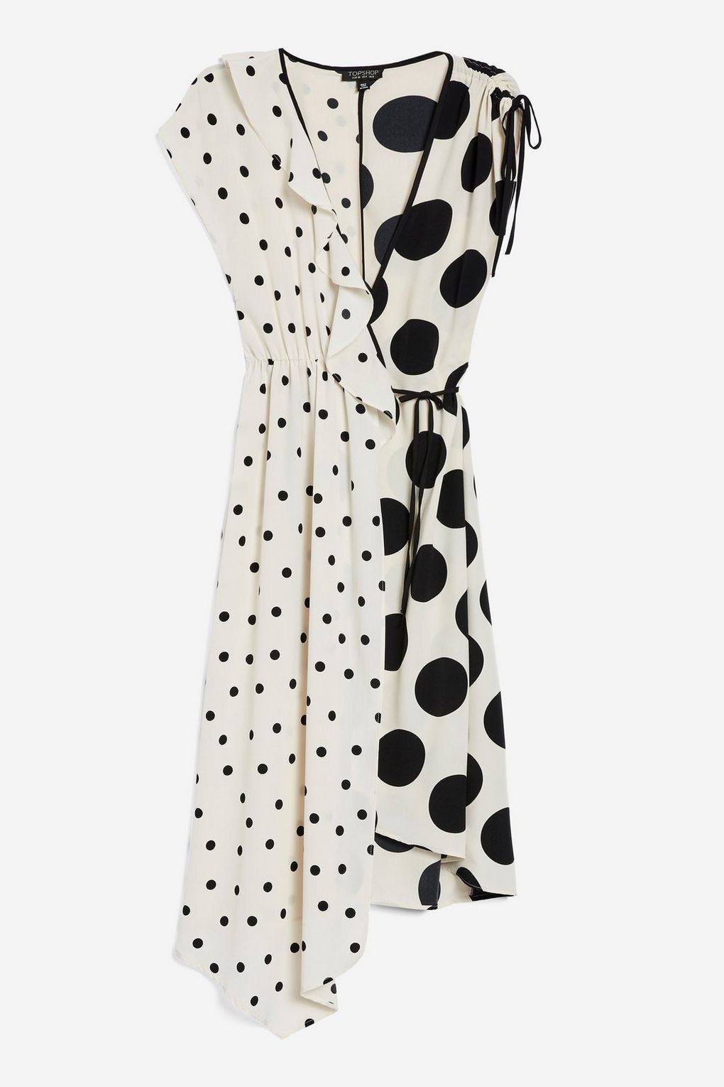 Mix Spot Ruched Midi Wrap Dress - Priced at £46, available at Topshop