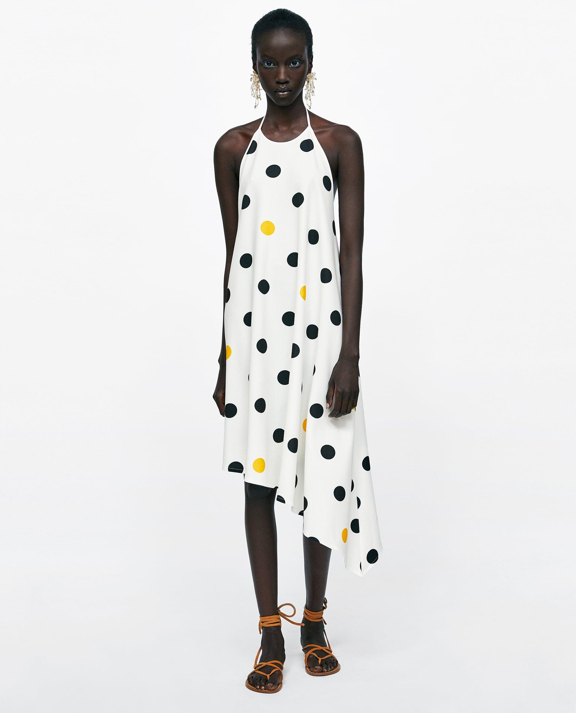 Polka Dot Halterneck Dress - Priced at £25.99, available at Zara