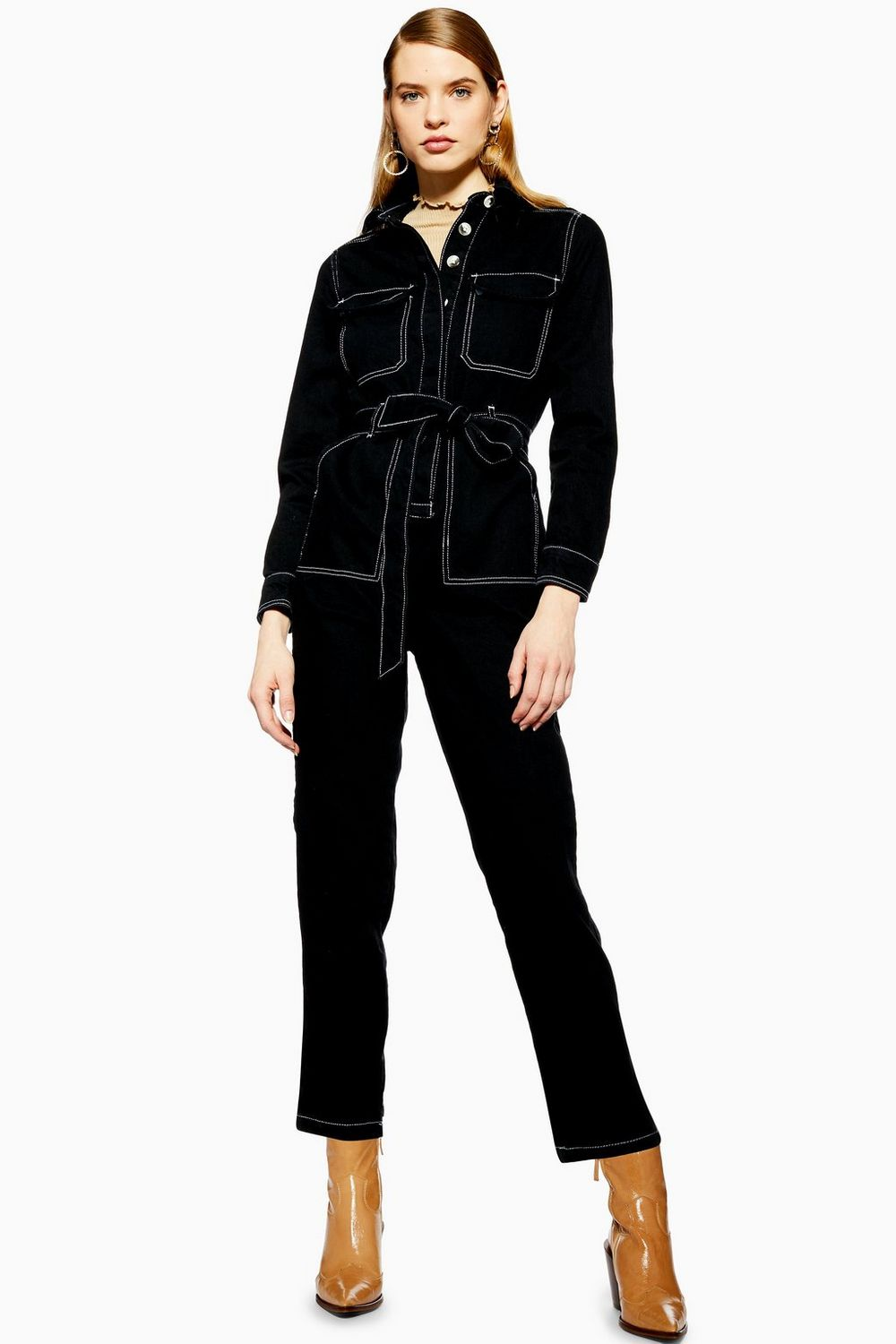 Topshop Black Denim Boiler Suit - Ticking all the trend boxes, this black denim boiler suit is a total winner and the contrast stitching is the cherry on top.£59, available at Topshop