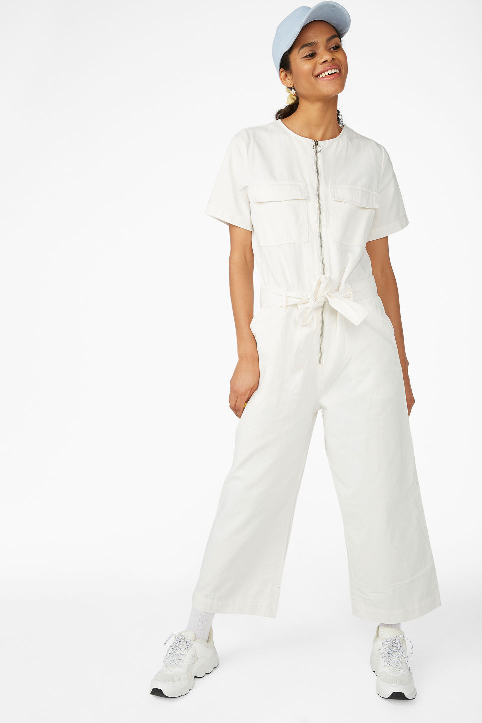 Monki Utility Jumpsuit - This white boiler suit from Monki is one of my favourites, as it takes a more unusual route by scrapping the collar completely. It makes it look more modern IMO and the built-in tie belt is a nice touch.