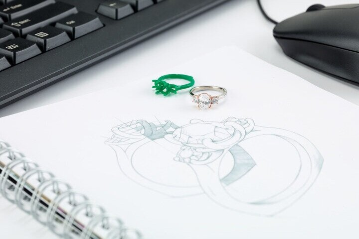 Custom Designing - We can help you create your vision into a reality, from engagement to self purchase we can create anything. Fee for designing will later go onto a credit when purchasing the actual jewelry piece.Pricing $100 - 300.