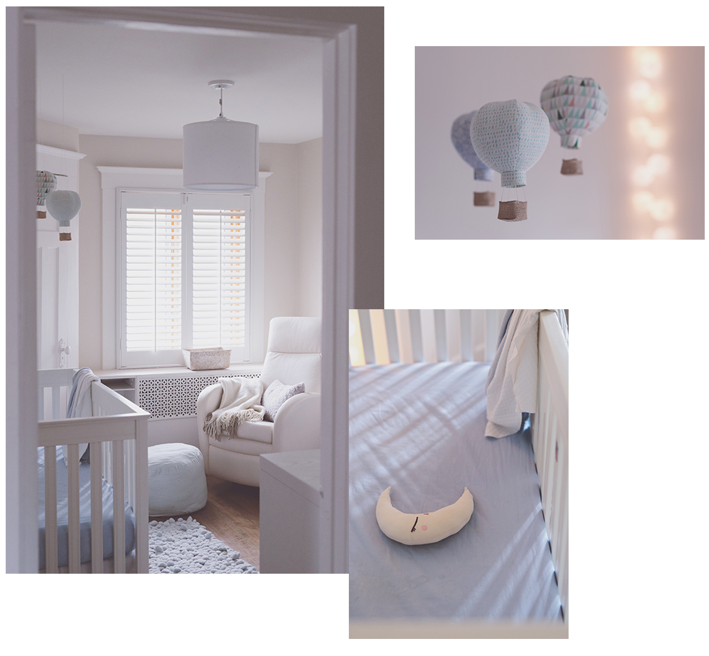 Péa les maisons. A small and cosy nursery for a little baby boy