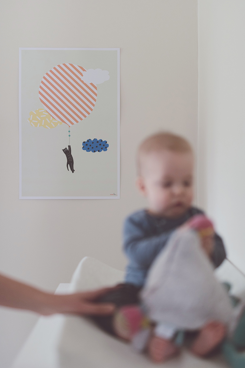 Péa les maisons. A gender neutral nursery room with natural tones for a baby boy