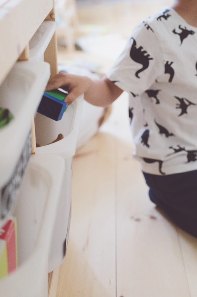 Péa les maisons. Ideas to optimize the storage in playrooms