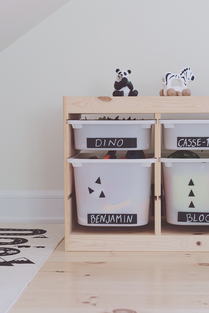 Péa les maisons. Storage solutions for kid's rooms