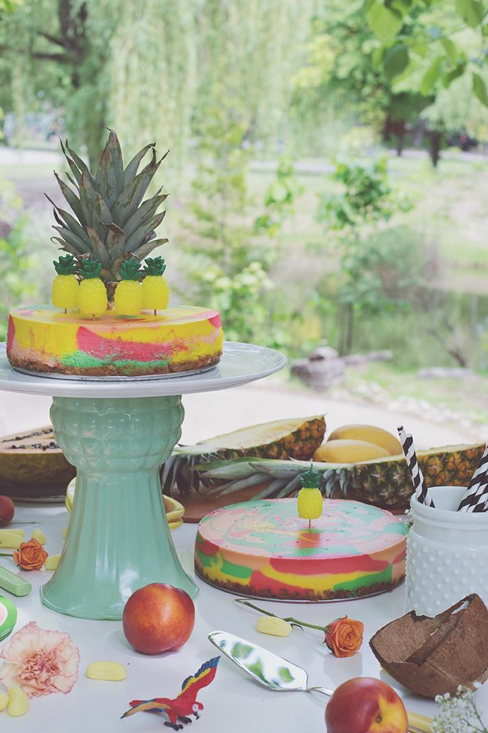 Péa les maisons. Tiki birthday party for kids