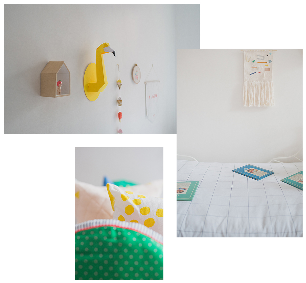 Péa les maisons. Shared and light filled girls bedroom