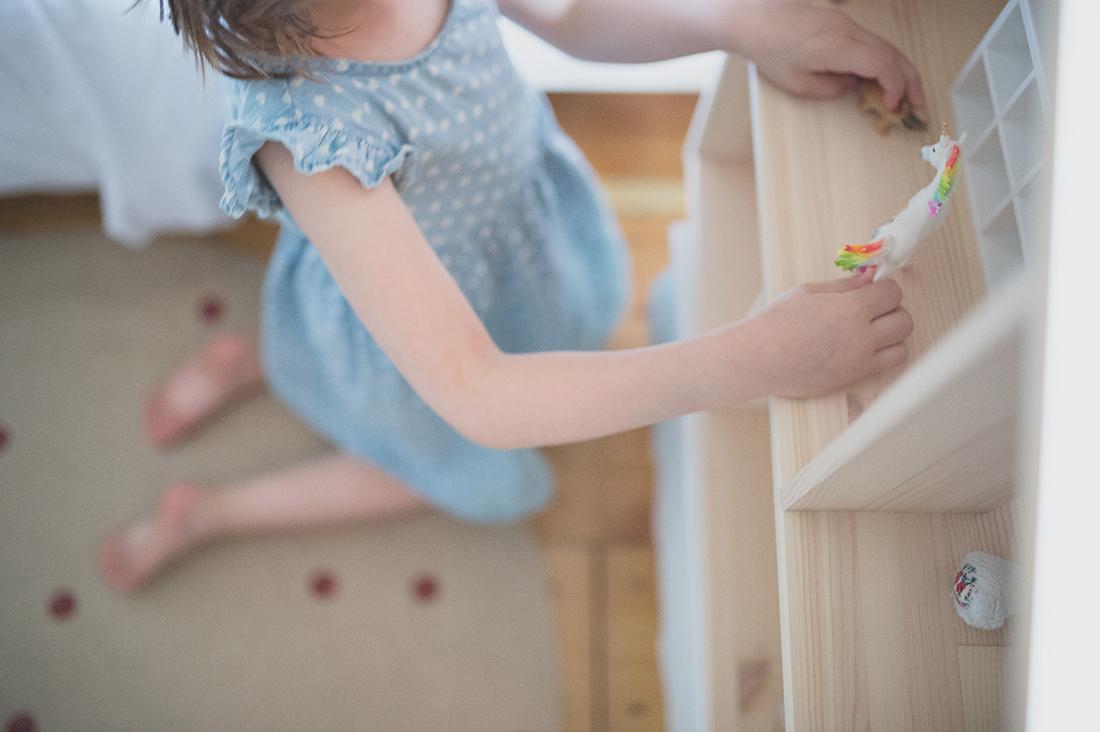 Péa les maisons. Petit espace de jeu calme dans la chambre d'enfant