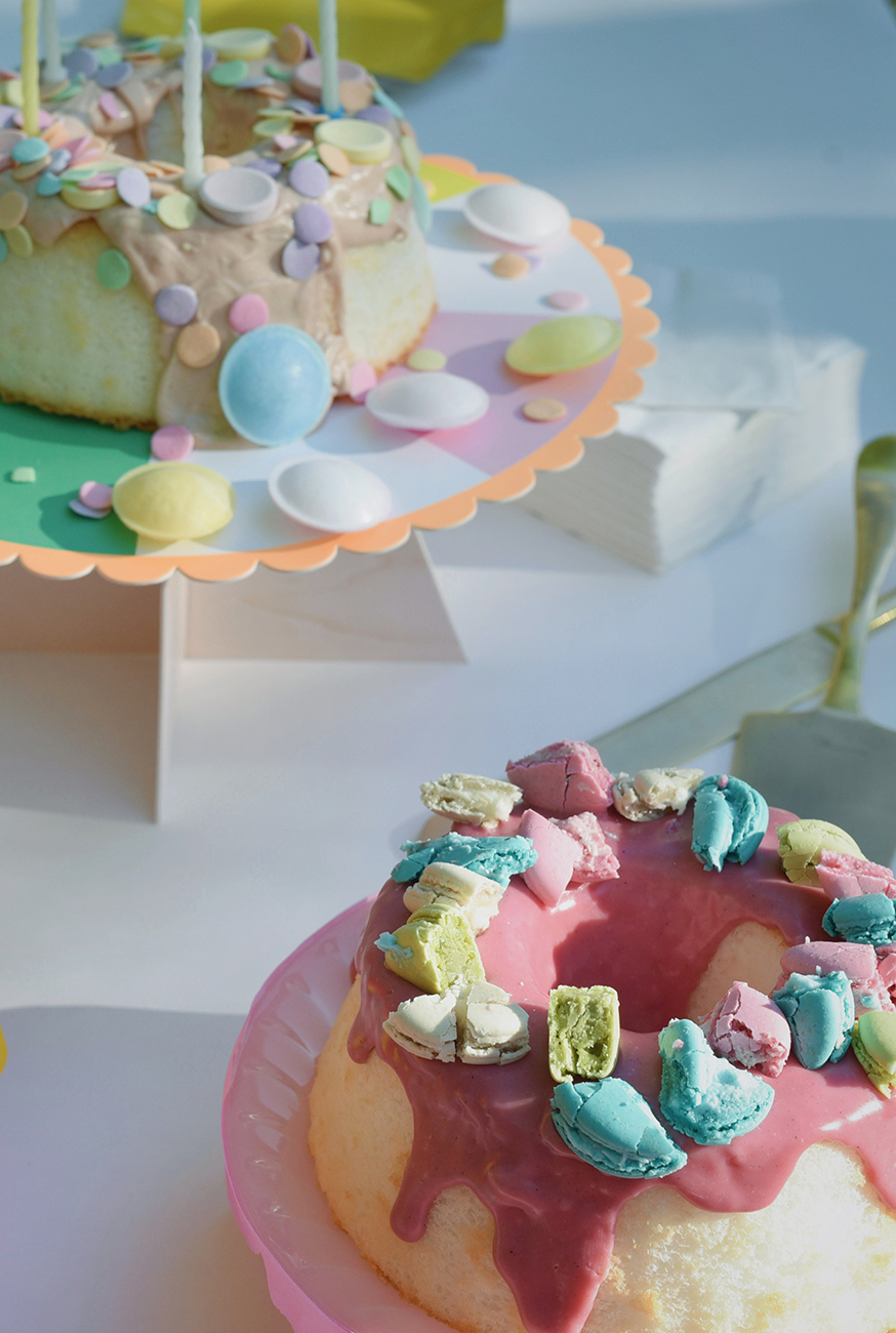 Péa les maisons. Ideas for decorating a kid's birthday cake