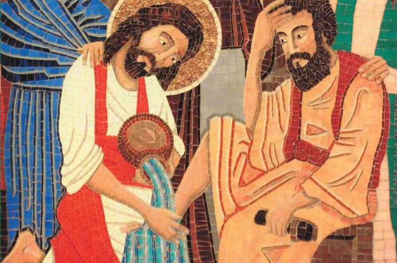Detail, Rob Zilli mosaic, Church of Saint James, Stratford Connecticut