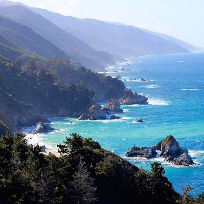View of the California coast in Big Sur