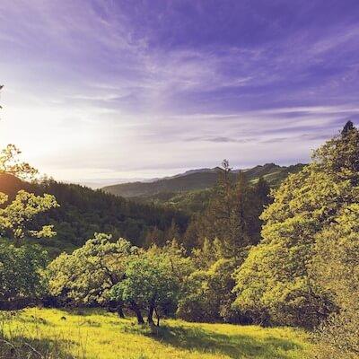 Beautiful mountain scenery in Wine Country