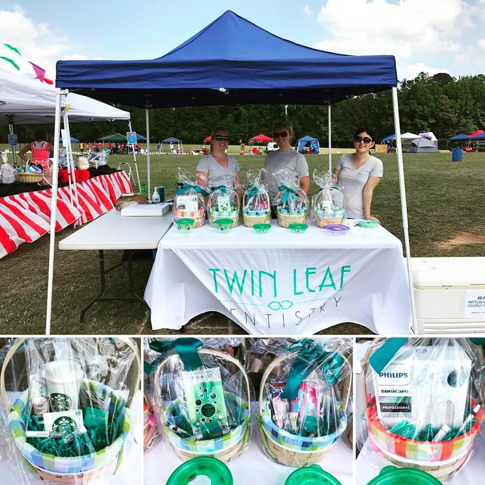 Around the community - We spent a day at Relay for Life and raffled off some baskets so we could donate the proceeds!
