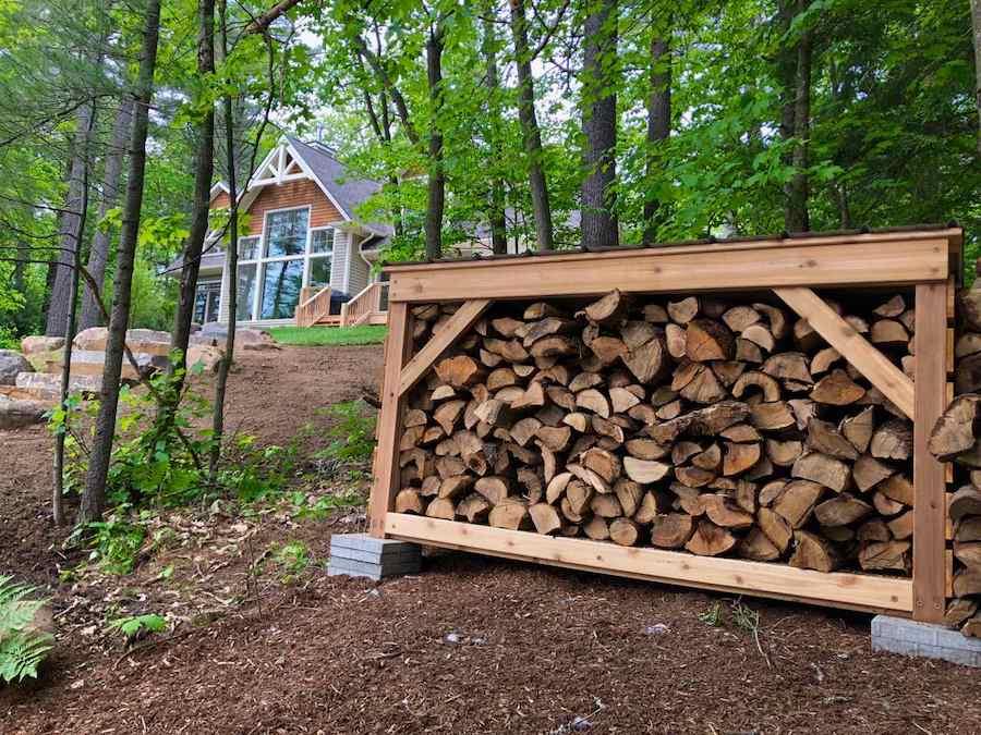 Firewood Storage Shelter -