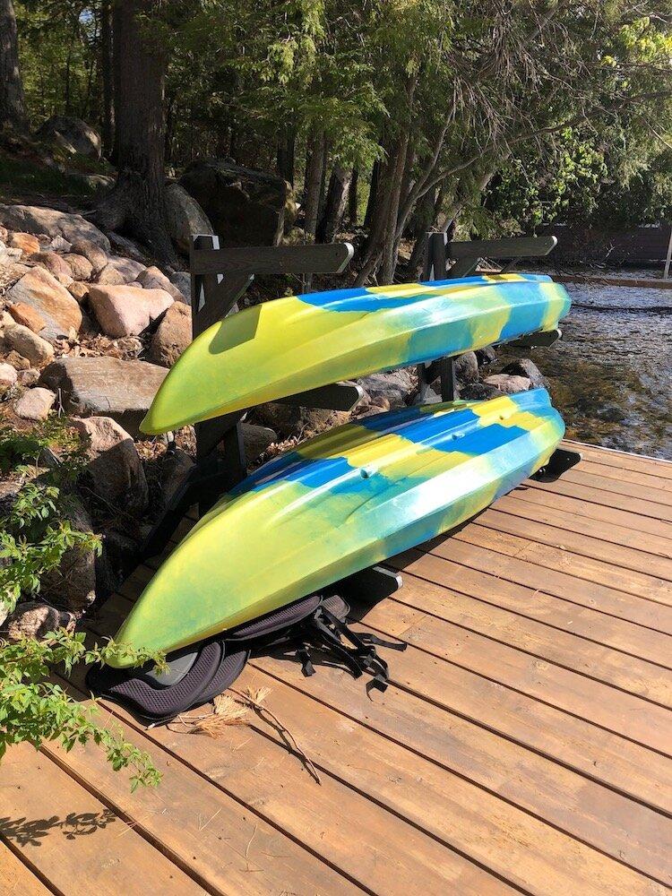 Storage Rack Solutions, Kayak Storage Outside