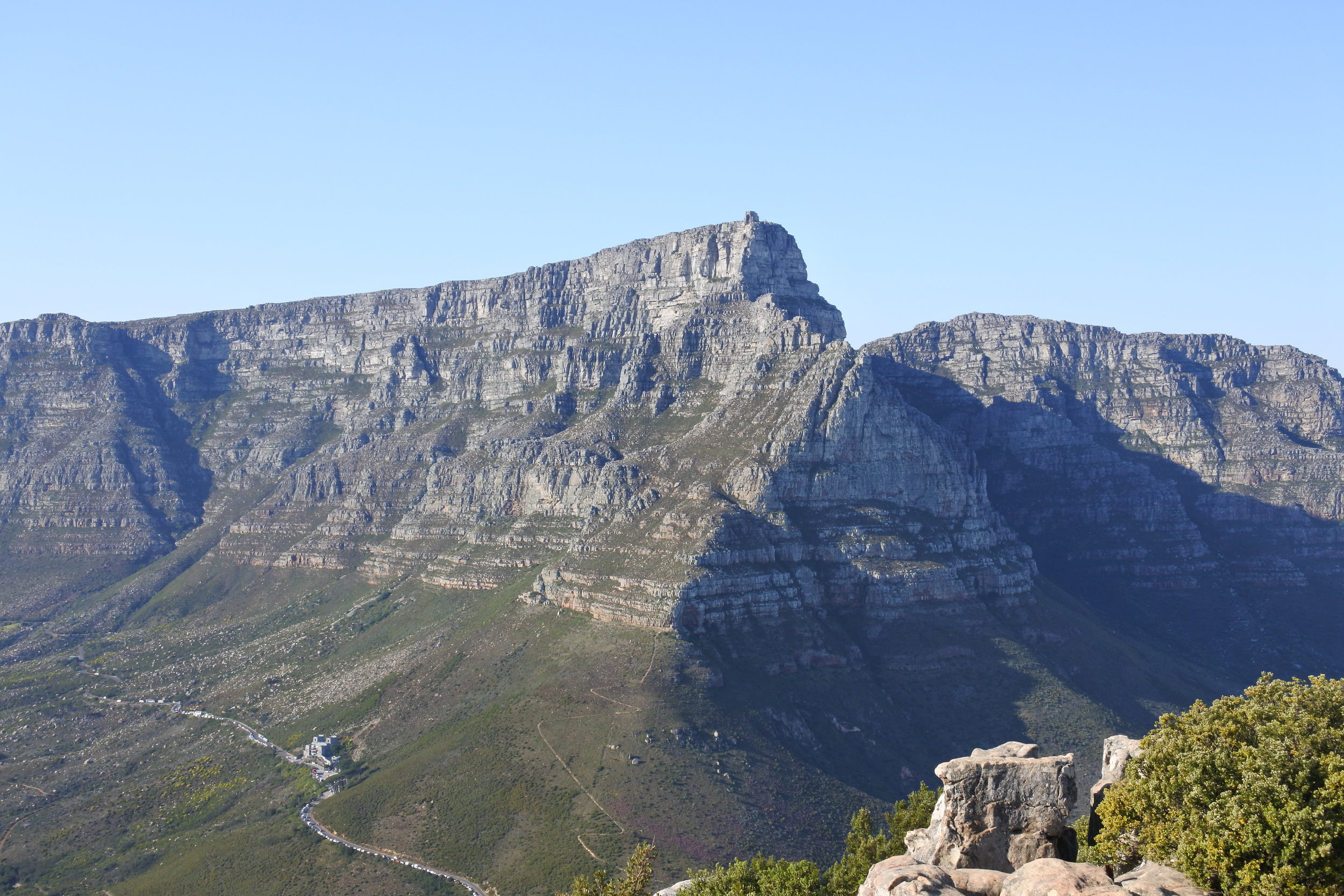 View of the Table Mountain Hiking Up Lion's Head