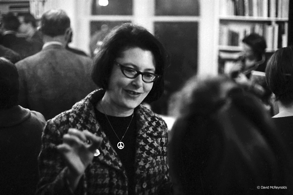 Denise Levertov, at a reception for the 1968 WRL poetry calendar, which she edited. New York City.