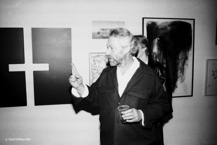 Don Judd, Feb. 1, 1986. Judd hosted three art benefits for War Resisters League in his Soho gallery.