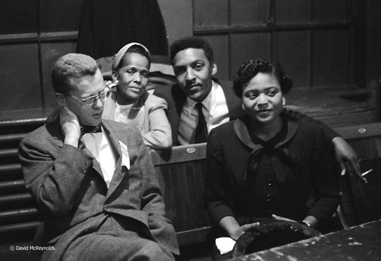 Murray Kempton (journalist), Ella Baker, Bayard Rustin, Autherine Lucy. (56-21)
