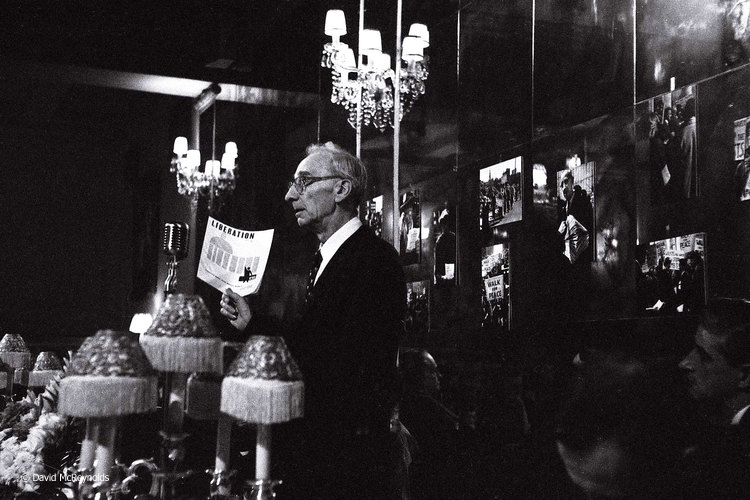AJ Muste, a founding editor of   Liberation Magazine  (1956-1977) at the peace award dinner, NYC 1958.