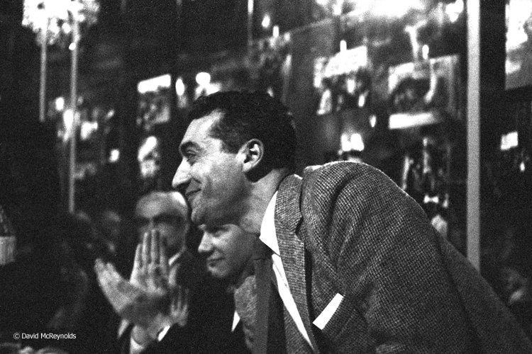 Longtime WRL staff member Ralph DiGia at the peace award dinner, NYC 1958.