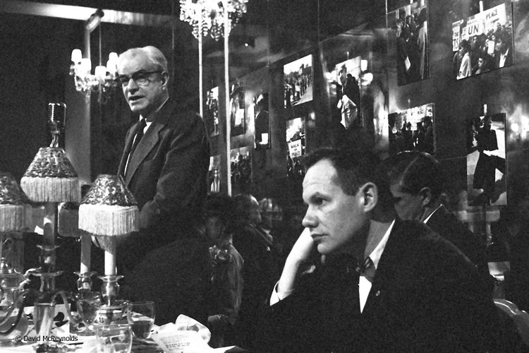 Larry Scott and Robert Gilmore, peace award dinner, NYC 1958.