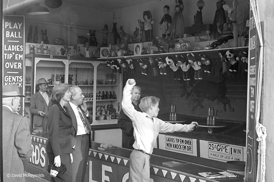 Ladies tip 'em, Men knock 'em down. January 1954. (54-3)