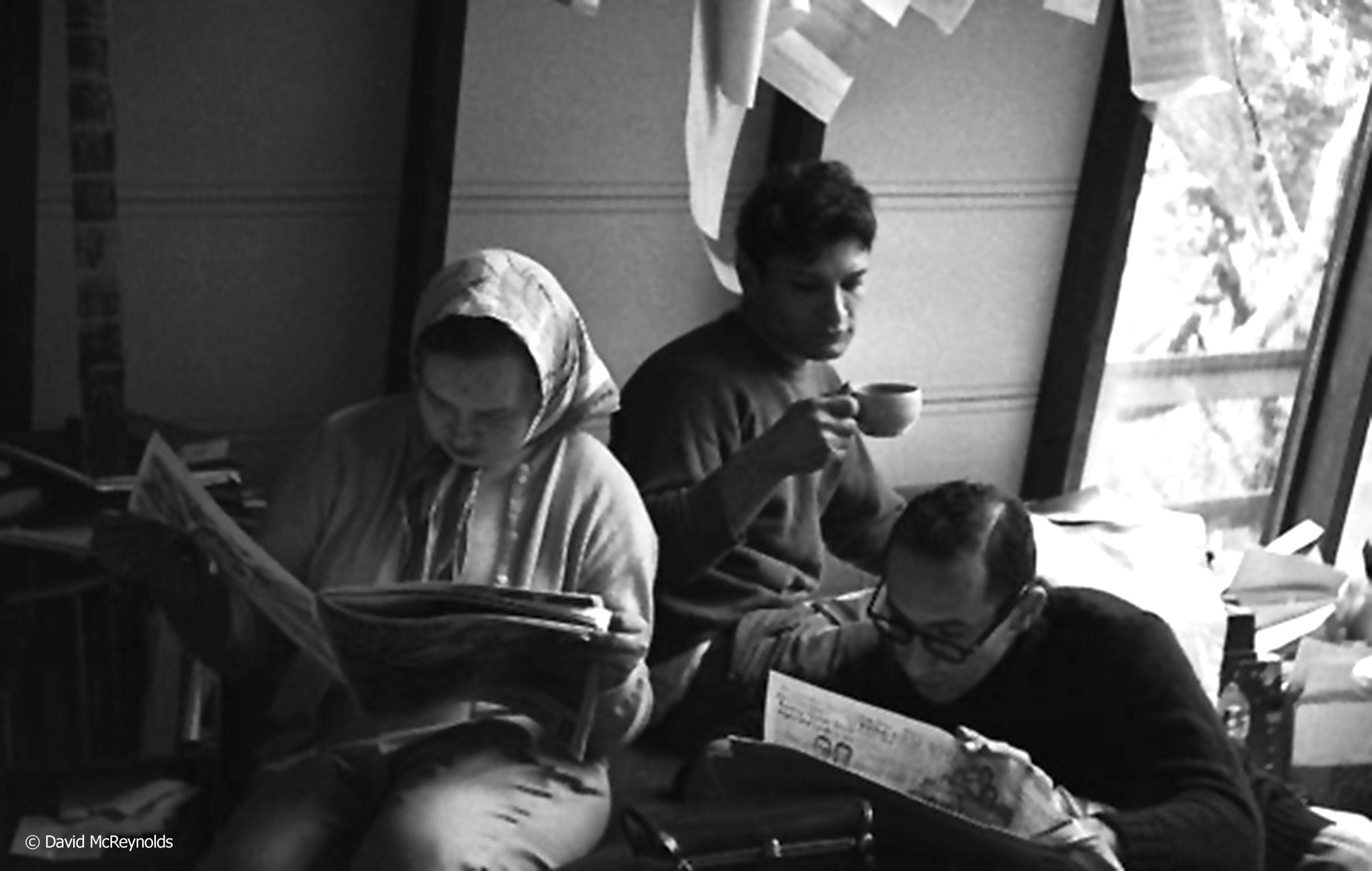 Maggie Phair, Jonnie Blatt, Harvey Berman.1954