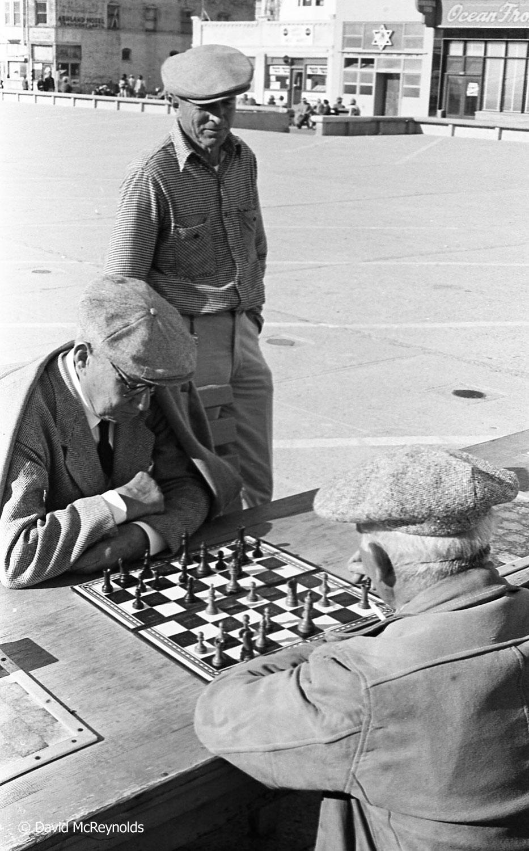 Chess in Ocean Park, 1956. (56-7)