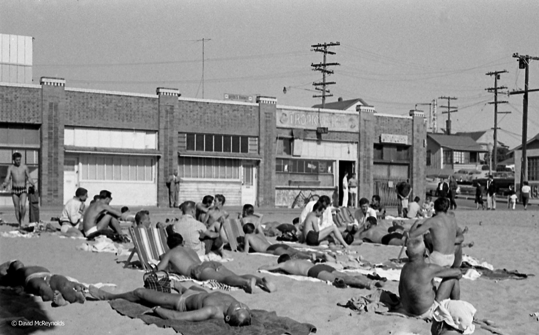 Boys on the beach, Ocean Park, 1956. (56-7)