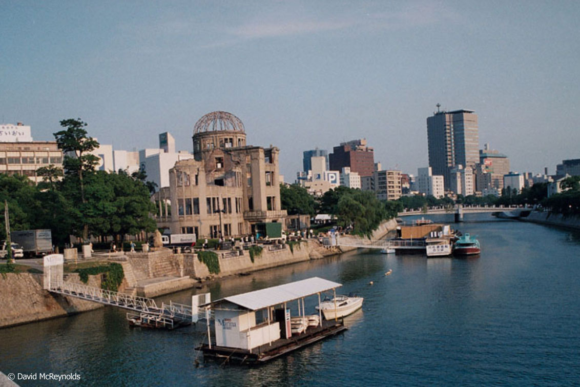 The Peace Dome and the city of Hiroshima, 1995.