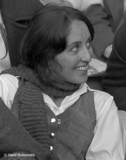 Joan Baez during the Oakland Draft Board Sit-In Oct 1967.