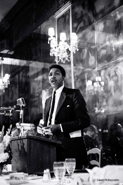 Bayard Rustin at the 1959 WRL peace award dinner honoring AJ Muste.