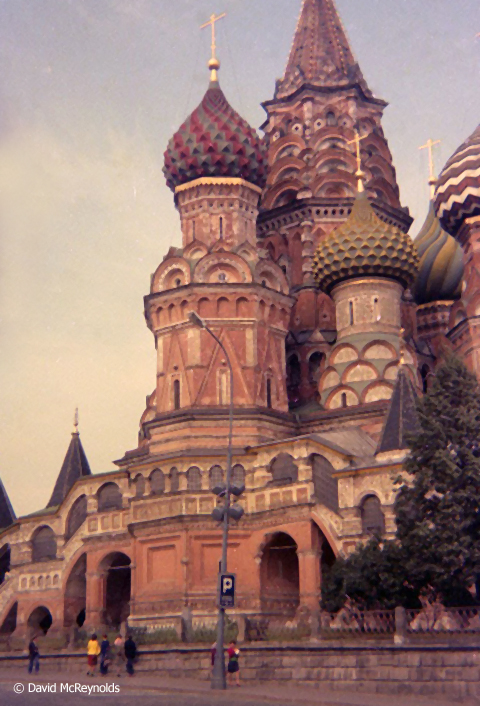 Saint Basil's Cathedral in Red Square (now a museum).