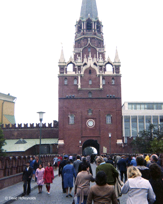 Entering Red Square, where the action would take place another day.