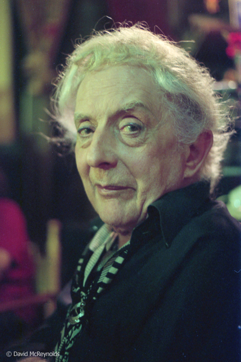Quentin Crisp at David's apartment, July 1992. They were East Village friends and shared dinners, movies, socializing.
