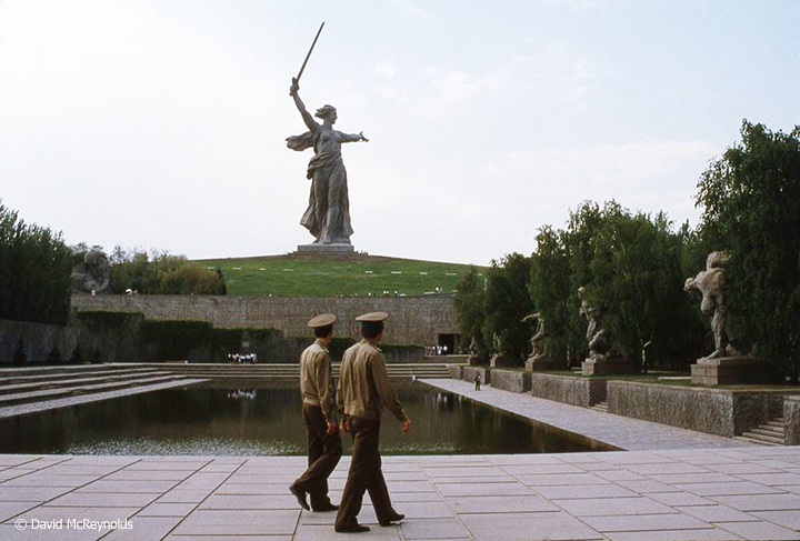 Motherland monument in Volgograd.