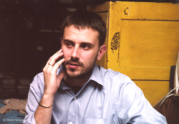 Jeremy Scahill in David's apartment, April 2003, Read Jeremy writings on   The Intercept  .