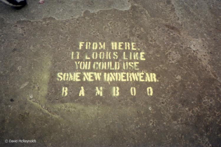 Street stencil, 1991