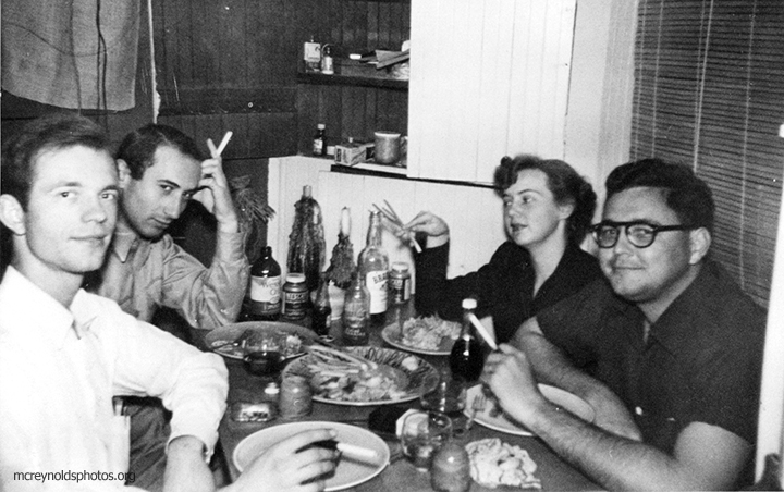 David, Harvey Berman, Maggie Phair, and Vern Davidson, 1950s.