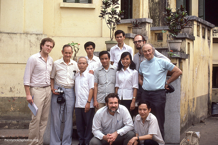 In Hanoi on his third trip to Vietnam with a tour led by Don Luce, front center. 1981.