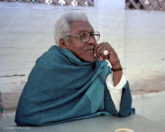Bayard Rustin (1912-1987) attended the Triennial in Vedcchi, India.