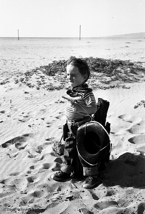Child of a friend on the beach in Venice, California. March, 1954. (54-7)