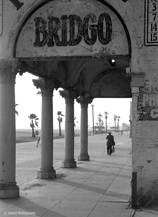 "Bridgo, ""skill bingo"" parlor. Ocean Front Walk, Venice, August 1954. (54-15)"