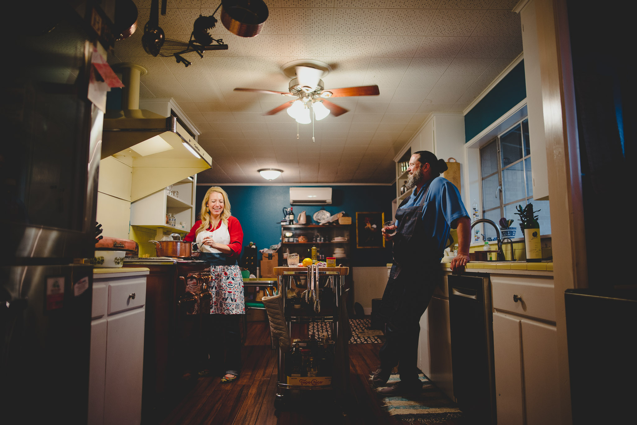 Stephanie & Chef Jason - Cooking up a mean meal and killer drinks at their home